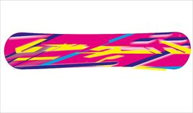 Abstrac Snowboard Design. Snowboard design with abstract lines and bright colors Stock Image