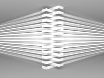 Abstrac tWhite Architecture Stripe Background. 3d Render Illustration Royalty Free Stock Photography