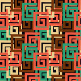 Abstrac Vector Background With Rectangular Shapes. Geometrical Texture. Seamless Pattern Royalty Free Stock Image