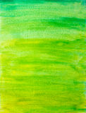 Abstrac watercolor background. With green color brush strokes Stock Photography