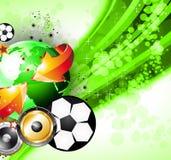 Abstrac Weltfußball-Meisterschaft-Party-Flugblatt lizenzfreie abbildung