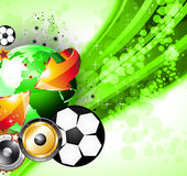 Abstrac World Football ChampionShip Party Flyer Royalty Free Stock Images