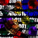 Abstracción binaria Stock de ilustración