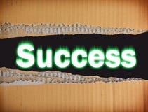 Abstracción con el éxito de la inscripción Imagen de archivo libre de regalías