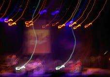 Abstracción con las líneas amarillas y azules Foto de archivo libre de regalías