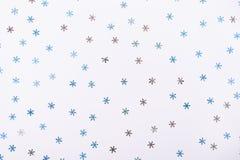 Abstracción de copos de nieve decorativos azules Fotos de archivo
