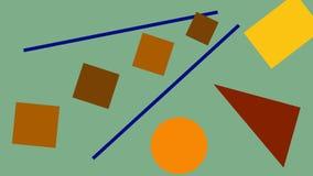 Abstracción de formas geométricas Fotografía de archivo