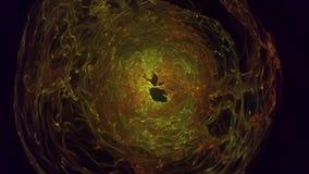 Abstracción de la distorsión de las esferas de la energía que coloca el fondo animado del CG Esfera del plasma con las cargas de  metrajes