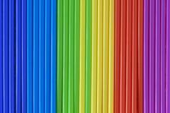 Abstracción de la escala de colores de los tubos de color verticales, espectro del arco iris Imagen de archivo