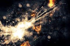 Abstracción de la explosión Imágenes de archivo libres de regalías