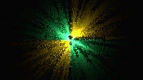 Abstracción de la explosión del confeti Animación abstracta de la explosión pintada del confeti de squiggles Animación de stock de ilustración