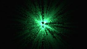 Abstracción de la explosión del confeti Animación gráfica de la divergencia dibujada explosión del confeti del centro de curvas almacen de video
