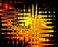 Abstracción de la llama sobre el vidrio ilustración del vector