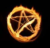 Abstracción de la luz de la llama de la estrella Fotografía de archivo libre de regalías