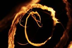 Abstracción de la luz de la llama de la estrella Imagen de archivo libre de regalías