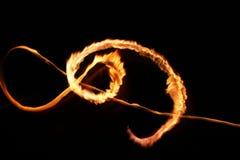 Abstracción de la luz de la llama de la estrella Imágenes de archivo libres de regalías