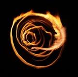 Abstracción de la luz de la llama de la estrella Fotografía de archivo