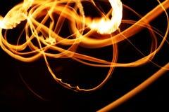 Abstracción de la luz de la llama de la estrella Foto de archivo libre de regalías