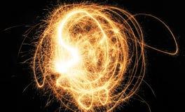 Abstracción de la luz de la llama de la estrella Fotos de archivo
