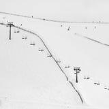 Abstracción de los esquiadores Foto de archivo