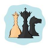 Abstracción de los pedazos de ajedrez Imágenes de archivo libres de regalías