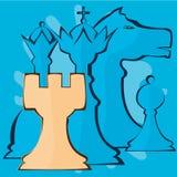Abstracción de los pedazos de ajedrez Foto de archivo libre de regalías
