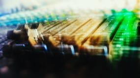 Abstracción de mezcla del movimiento de la consola imagenes de archivo