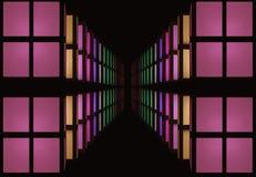 Abstracción de ventanas coloridas Imagen de archivo