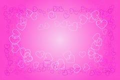 Abstracción del amor del corazón Fotografía de archivo