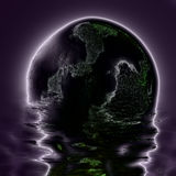 Abstracción del electro de la luna Foto de archivo libre de regalías