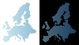 Abstracción del panal del mapa de la unión europea ilustración del vector