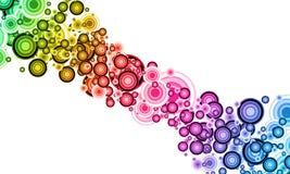 Abstracción en tonos iridiscentes Imagen de archivo