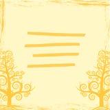 Abstracción EPS 10 de la cubierta de los árboles Fotos de archivo libres de regalías