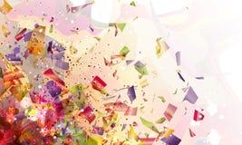 Abstracción explosiva Imagen de archivo libre de regalías