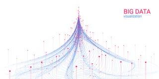 Abstracción futurista Visualización grande de los datos ilustración del vector
