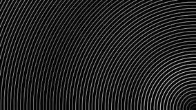 Abstracción geométrica de los semi-anillos blancos que mueven encendido el fondo negro stock de ilustración