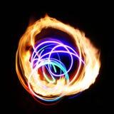Abstracción ligera de la llama Foto de archivo libre de regalías