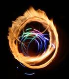 Abstracción ligera de la llama Imagen de archivo