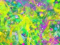 Abstracción multicolora borrosa con humo y resplandor ilustración del vector