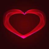 Abstracción roja del corazón en un fondo oscuro Foto de archivo