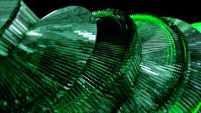 Abstracción verde en un fondo negro almacen de metraje de vídeo