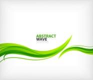 Abstracción verde moderna del remolino del eco Imágenes de archivo libres de regalías