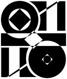 Abstracción y corte geométrico Fotos de archivo libres de regalías