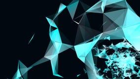 Abstracción y movimiento geométricos de partículas ilustración del vector