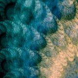 Abstracción del azul y del oro Fotos de archivo libres de regalías