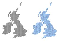 Abstracciones del mapa de Dot Great Britain And Ireland libre illustration