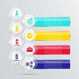 Abstracct  banner infographics. Royalty Free Stock Images