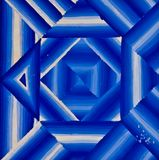 Abstrace blue line striped fade out by painting Stock Photo