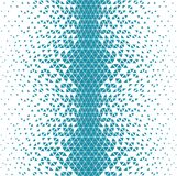 Abstracet blue geometric halftone triangle trippy seamless pattern. Background royalty free illustration