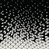 Abstracet geometric halftone triangle trippy seamless pattern Stock Photos